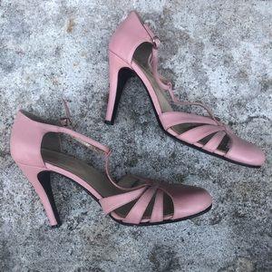 Pastel Pink TopShop Heel Sandal Size 38 (US 7)